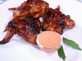 Fotografie k receptu Čertovsky medová kuřecí křídla