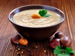 Fotografie k receptu Kaštanová polévka