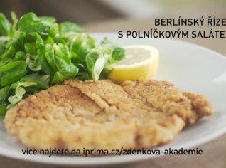 Fotografie k receptu Berlínský řízek s polníčkovým salátem