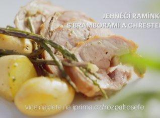 Fotografie k receptu Jehněčí ramínko s bramborami a chřestem