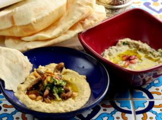 Fotografie k receptu Hummus, Babagannus (Turecký humus a babaganuš)