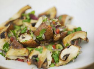 Fotografie k receptu Salát z grilovaných žampionů