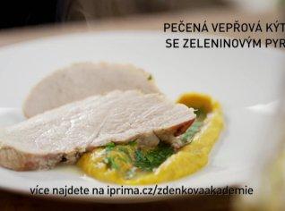 Fotografie k receptu Pečená vepřová kýta se zeleninovým pyré