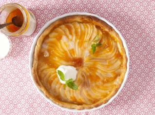 Fotografie k receptu Linecký koláč s hruškami a marcipánem