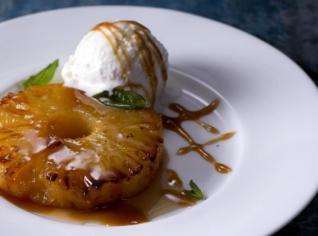 Fotografie k receptu Ananas s vanilkovou omáčkou