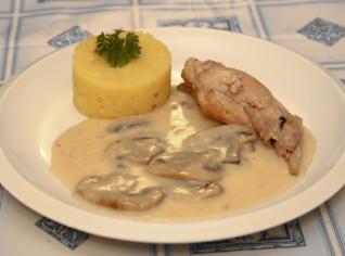 Fotografie k receptu Králík na houbách