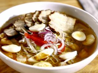 Fotografie k receptu Vietnamská polévka s vepřovým bůčkem