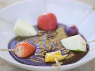 Fotografie k receptu Čokoládové fondue s ovocem