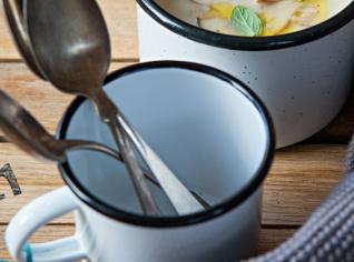 Fotografie k receptu Česnekový krém s hříbky