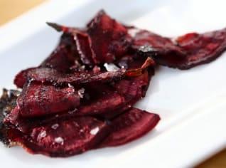 Fotografie k receptu Chipsy z červené řepy