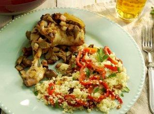 Fotografie k receptu Syté kuře s hlívou ústřičnou