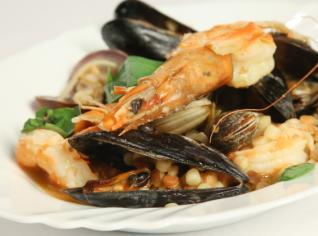 Fotografie k receptu Pilaf s fregolou a mořskými plody