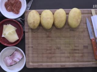 Fotografie k receptu Plněné Hasselback brambory