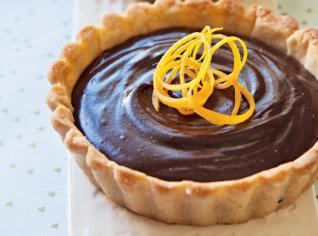 Fotografie k receptu Čokoládovo-pomerančové špaldové tartaletky