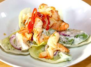 Fotografie k receptu Grilované krevety s chilli