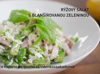 Fotografie k receptu Rýžový salát s blanšírovanou zeleninou