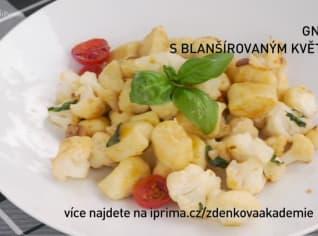 Fotografie k receptu Gnocchi s blanšírovaným květákem
