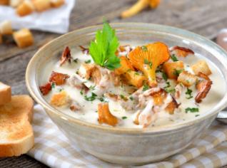 Fotografie k receptu Lišková polévka na smetaně s fazolkami