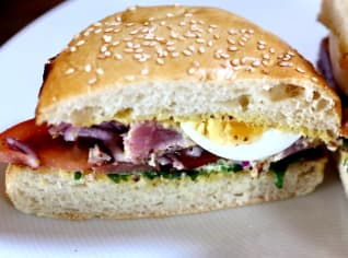 Fotografie k receptu Tuňákový burger