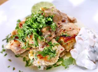 Fotografie k receptu Kořeněné kuře s meruňkovým dipem