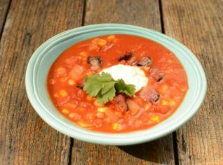 Fotografie k receptu Mexická rajská polévka