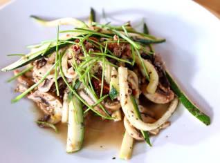 Fotografie k receptu Cuketové nudle s houbami