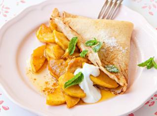 Fotografie k receptu Palačinky s jablky ve slaném karamelu