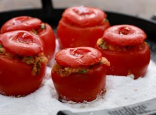 Fotografie k receptu Plněná grilovaná rajčata