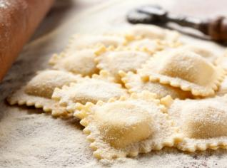 Fotografie k receptu Ravioli ricotta e spinaci (Ravioli s ricottou a špenátem)