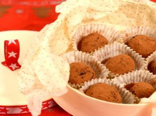 Fotografie k receptu Čokoládové lanýže s griotkou