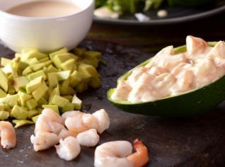 Fotografie k receptu Krevety s avokádem