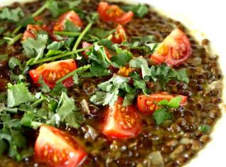 Fotografie k receptu Polévka ze zelené čočky
