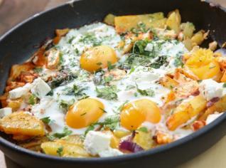 Fotografie k receptu Frittata s vejcem a ovčím sýrem