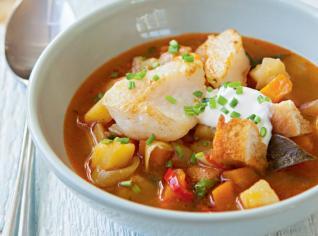 Fotografie k receptu Rybí polévka s ouzem