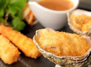 Fotografie k receptu Smažené ústřice a krevety