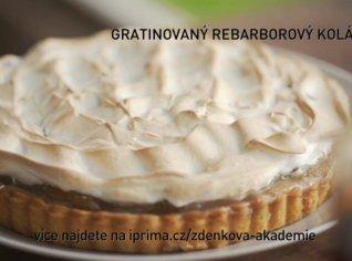 Fotografie k receptu Gratinovaný rebarborový koláč