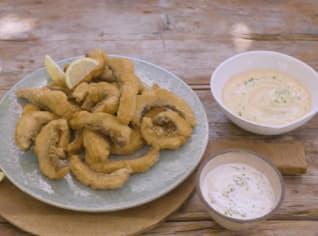 Fotografie k receptu Kapří hranolky se dvěma dipy