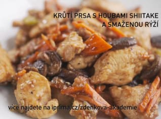 Fotografie k receptu Krůtí prsa s houbami shitake a smaženou rýží
