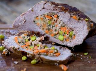 Fotografie k receptu Punta ripiena di carne e verdure (Plněné telecí se zeleninou)