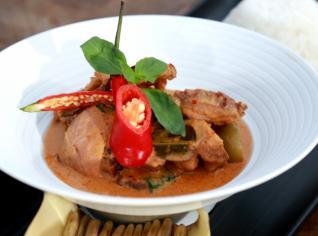 Fotografie k receptu Červené curry s kachnou
