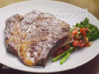 Fotografie k receptu Rib-eye steak s divokou brokolicí
