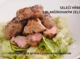 Fotografie k receptu Selečí hřbet s blanšírovaným zelím