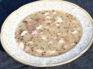 Fotografie k receptu Přesnídávková fazolová polévka
