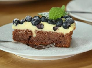 Fotografie k receptu Borůvkový koláč s pudingem