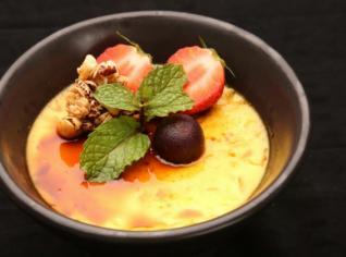 Fotografie k receptu Žloutkový krém s ovocem