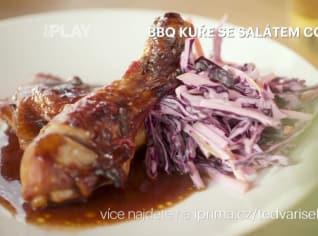 Fotografie k receptu BBQ kuře se salátem coleslaw