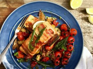 Fotografie k receptu Losos v pancettě