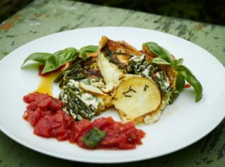 Fotografie k receptu Quiche di patate e fagiolini (Bramborový kiš s fazolkami)