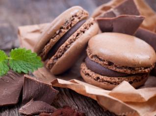 Fotografie k receptu Čokoládové makronky