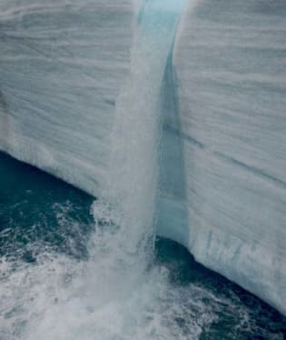 Ledový vodopád
